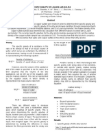 Determination of Specific Gravity or Relative Density of Substances (Formal Report)