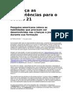 Patrícia Gomes - Conheça as Competências Para o Século 21