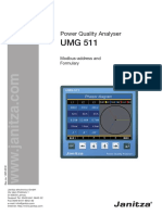 UMG511 Modbus Address List English