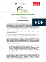 Agenda African Progress
