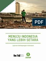 Laporan Ketimpangan Indonesia INFID OXFAM