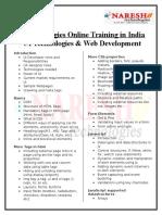 Online UI Technologies Training in India - NareshIT