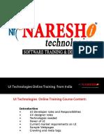 UI Technologies Online Training in Hyderabad