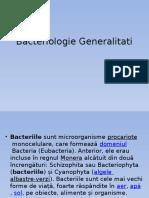 Bacteriologie Generalitati