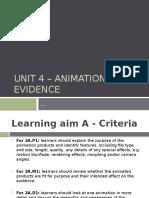 the animation evidence