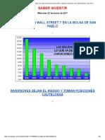 Inversores Dejan El Riesgo y Se Suben a Los Bonos_ Bajan El Dólar, El Petróleo, Los Granos y Los Metales Básicos, Sube El Oro