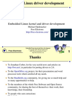 Embedded Linux Kernel and Drivers