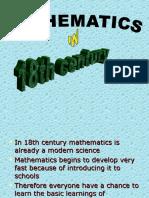 Math in 18 Century