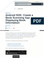 Android SDK Create a Book Scanning App - Displaying Book Information