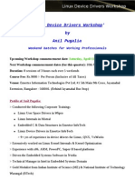 Linux Device Drivers Workshop Training for Professionals