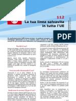 numero d'emergenza europeo - 112