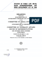 HOUSE HEARING, 106TH CONGRESS - THE IMPLEMENTATION OF PUBLIC LAW 106-50, THE VETERANS ENTREPRENEURSHIP AND SMALL BUSINESS DEVELOPMENT ACT OF 1999