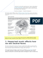 Music and how it affects the brain