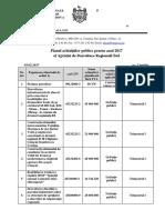 Planul achizițiilor publice pentru anul 2017 al ADR Sud