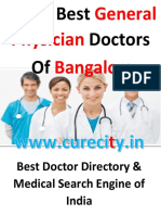 Top 10 General Physician Doctors of Bangalore - Curecity