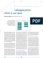 Writing and Debugging Device Driver in User Space