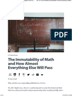 The Immutability of Math and How Almost Everything Else Will Pass - HackerRank Blog