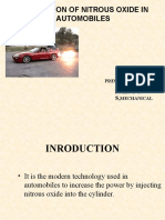 Application of Nitrous Oxide in Automobiles Ppt