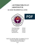 """Makalah Perkembangan Arsitektur """"Rumoh Aceh"""""""