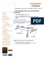 Information on Bridge Cranes, Overhead Cranes, Single Girder Cranes, Double Girder Cranes, Top Running Cranes and Under Running Cranes.pdf