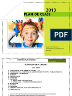 Formato plan de clase