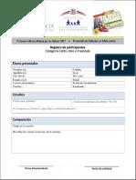 Formulario de registro de participantes | Categoría Estilo Libre