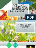3 Habit of Mind(Hom) Dan Kepentingannya Dalam