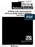 ANSI A58-1 1972 Building Code Requirements for Minimun Design Loads in Buildings and Other Structures