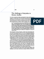 Blamires, David (1979) the Challenge of Fairytales to Literary Studies