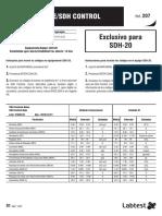 Ref 207 Tabela-SDH-Controle SDH 20 Ref0610162076004