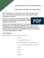 What is Aspirin