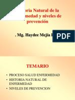 Historia Natural de la Enfermedad y niveles de prevención.