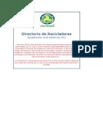 Directorio Plasticos excel