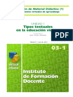 Tipos Textuales en La Educación Virtual