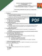 Cuestionario de Examen Quimestral Quinto
