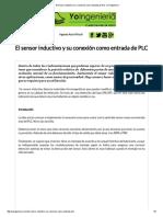 El Sensor Inductivo y Su Conexión Como Entrada de PLC