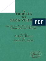 Philip R. Davies, Richard T. White a Tribute to Geza Vermes Essays on Jewish and Christian Literature and History JSOT Supplement Series