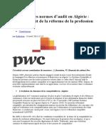 Nouvelle Normes d'Audit en Algérie