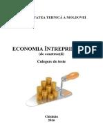 Economia Intreprinderii Constr Culeg Teste DS