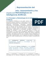 Representación Del Conocimiento, Razonamiento y Los Aspectos Metodológicos en Inteligencia Artificial.