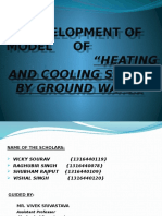 ground source heating and cooling system