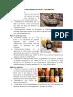 Metodos de Conservacion de Los Alimentos