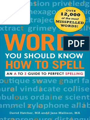 Words You Should Know How To Spell Copia Pdf English Language