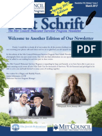 Tzeit Schrift - Met Council Holocaust Survivor Program Newsletter - March 2017 hsprogram