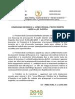 Communique Uganda - FRENCH