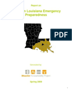 Report on Southern Louisiana Emergency Preparedness, Spring 2009