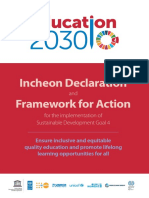 FFA UNESCO Framework for Action - Education