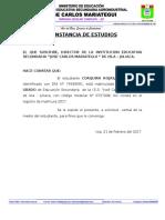 Constancia de Estudios 2017