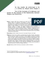 A Contribuição Das Noções de Entre-lugar e de Fronteira Para a Análise Da Relação Entre Religião e Democracia
