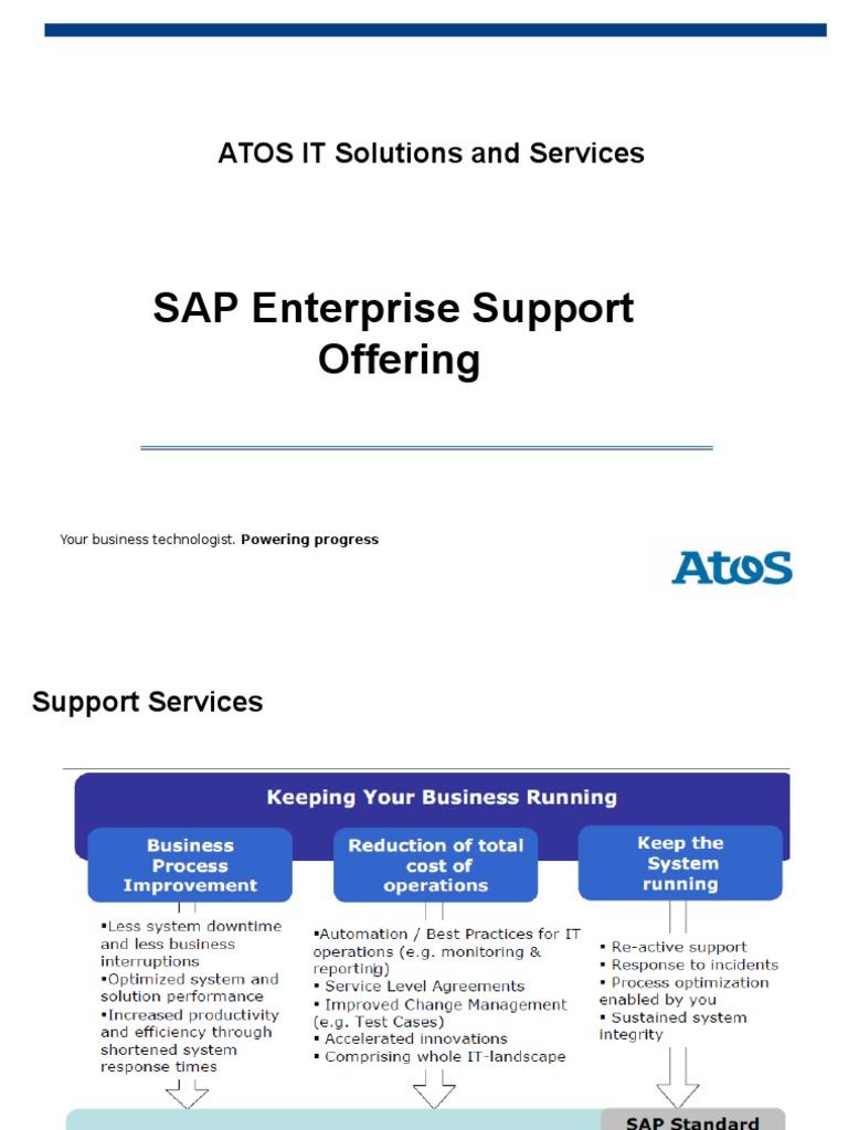 Sap Enterprise Support Atos Sap Se Business Process